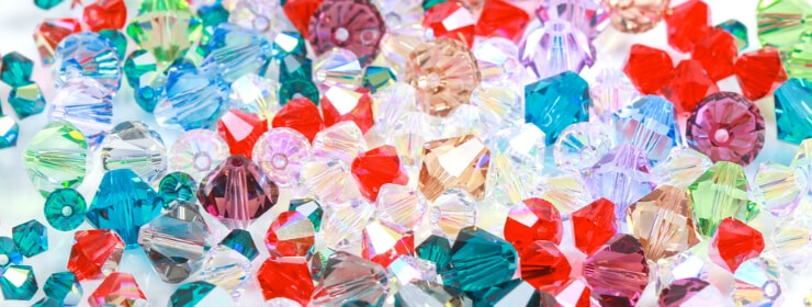 Colorful Swarovski stones