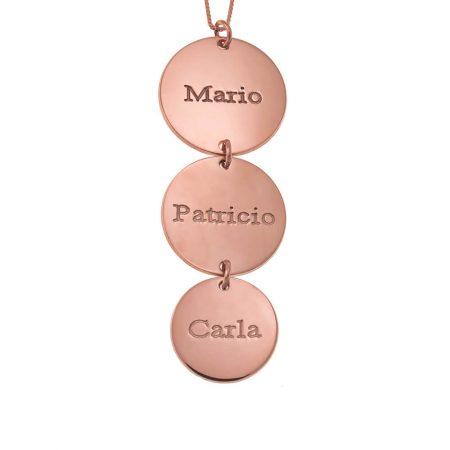 Vertical Disc Necklace