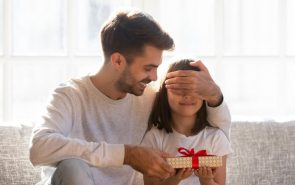 girl getting a gift