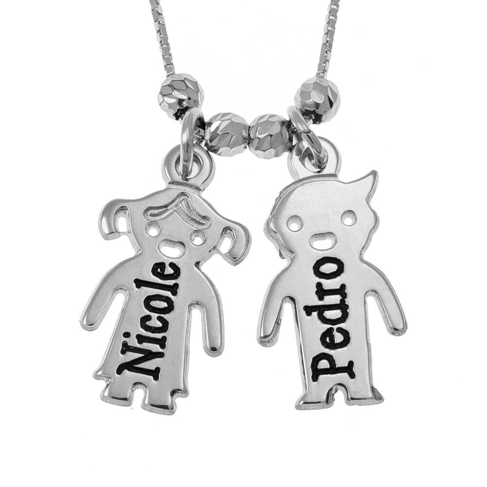 Engraved Children Necklace siver