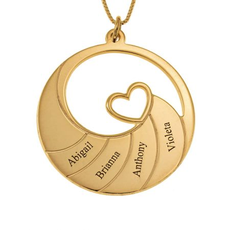 Four Names Spiral Necklace