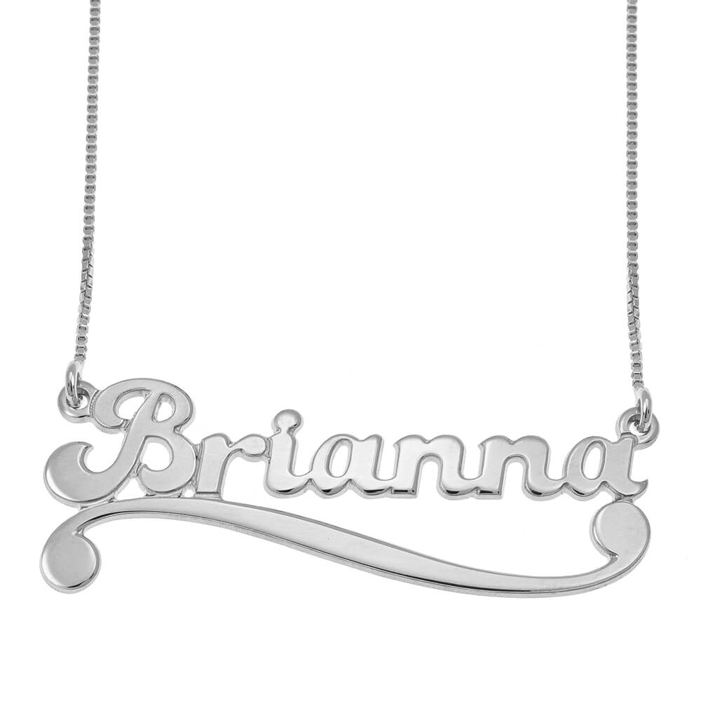 Personalised name necklace silver