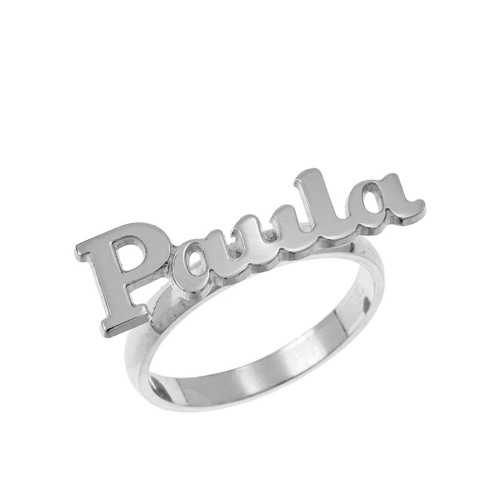 Script Name Ring silver