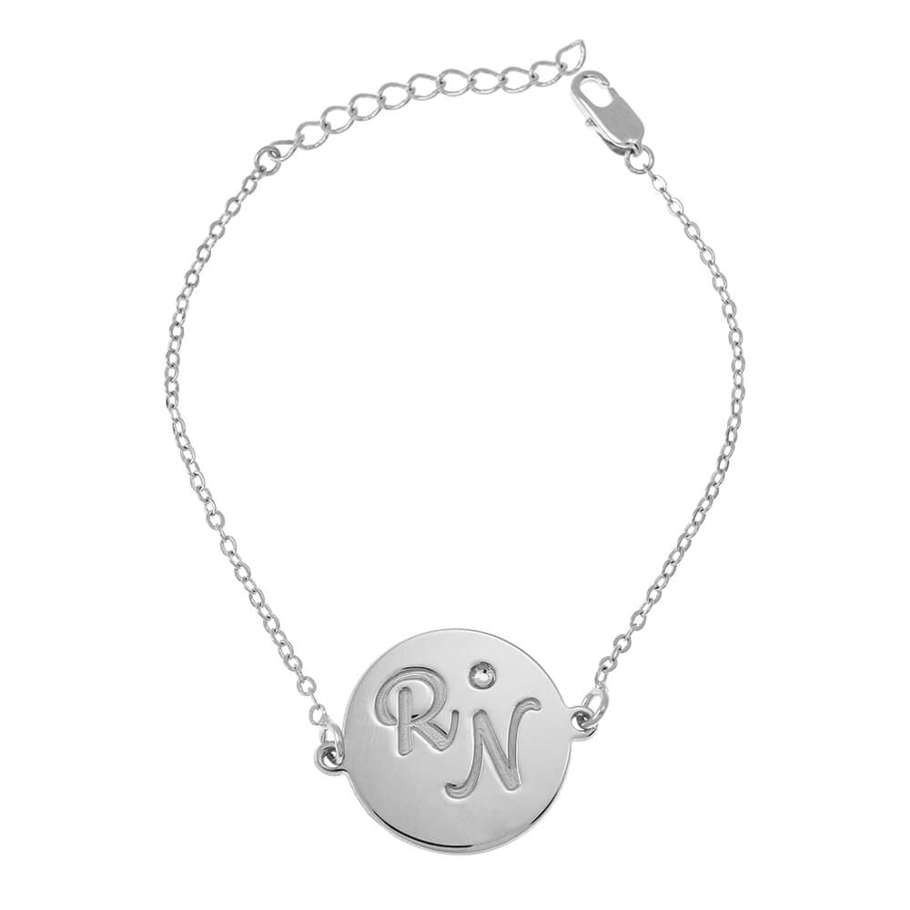 Dainty Initials Bracelet silver