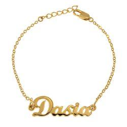 Dainty Name Bracelet gold