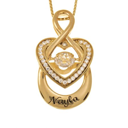 Infinity Inlay Heart Necklace