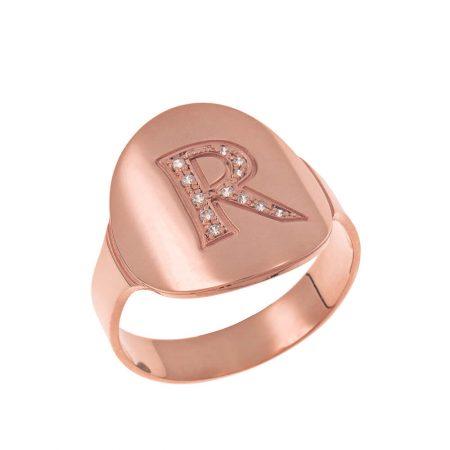 Inlay Signet Ring