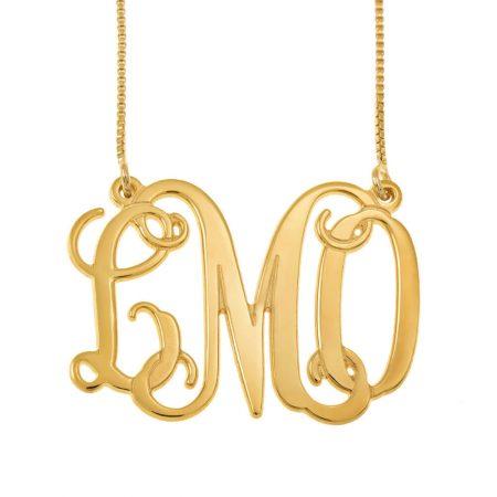 Monogram 3 Initials Necklace
