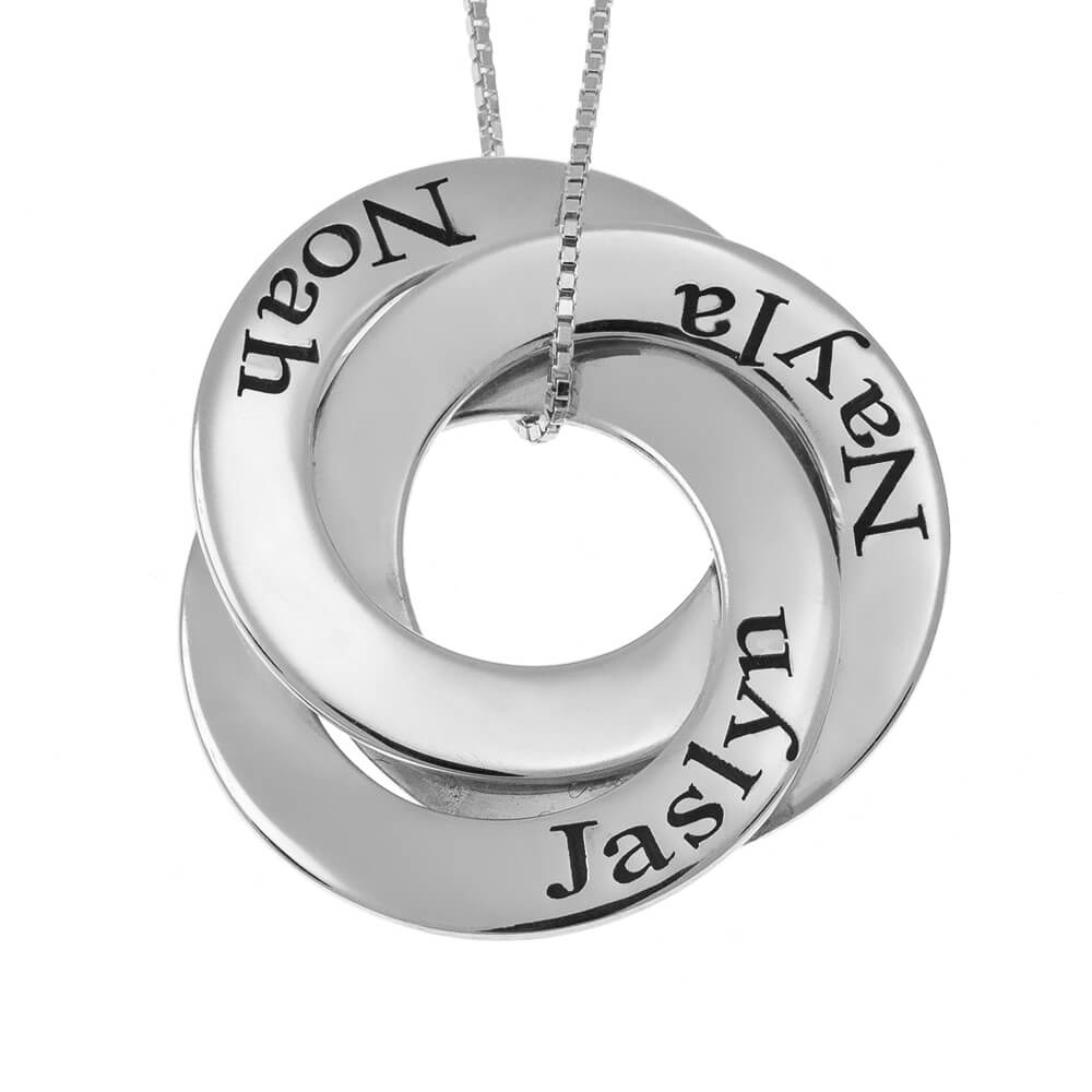 Russian Ring Mother Necklace silver
