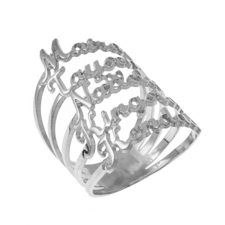 Cut Out 5 Names Ring