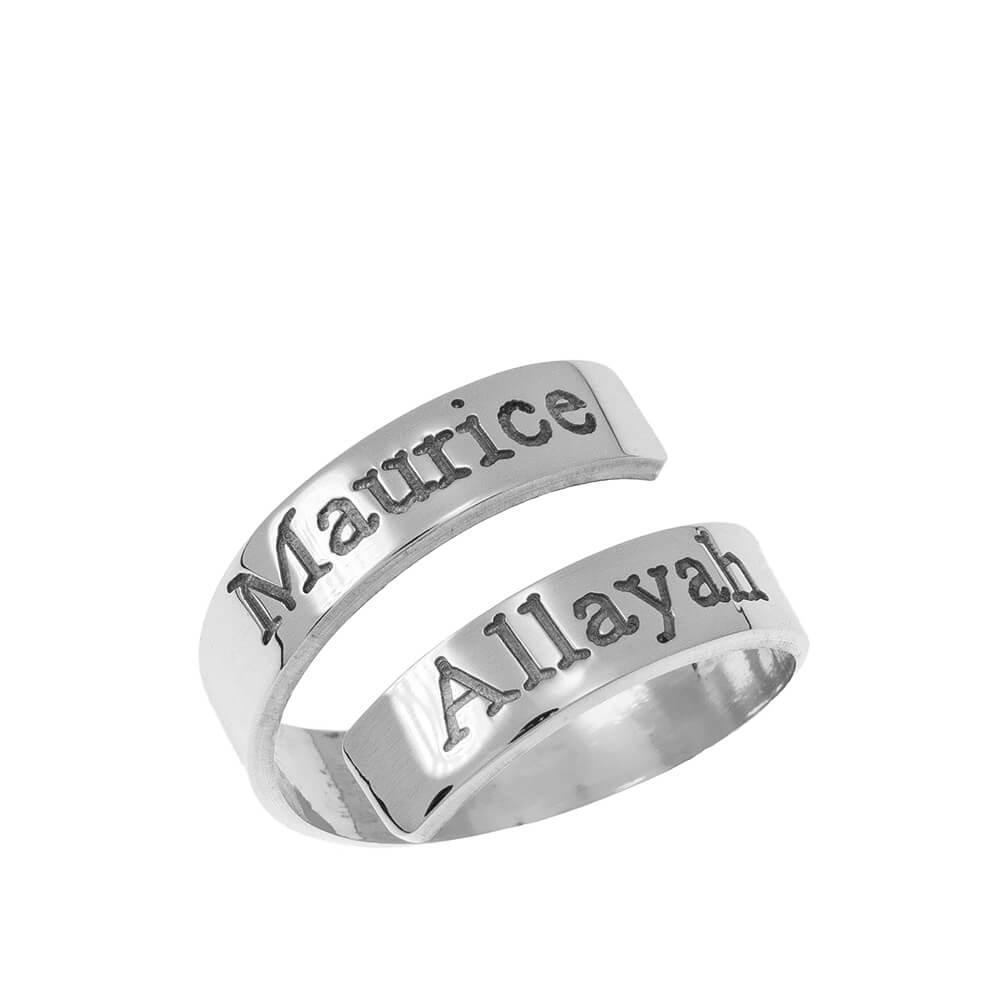 Engravable Ring Wrap in silver