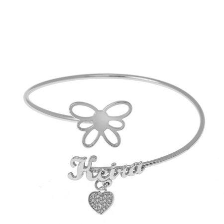 Flex Name Bracelet With Butterfly