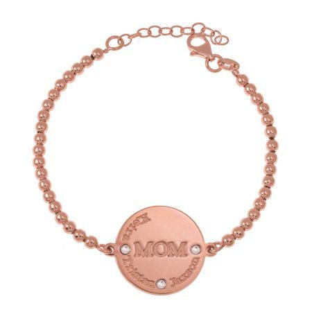 Mum Disc Bead Names Bracelet
