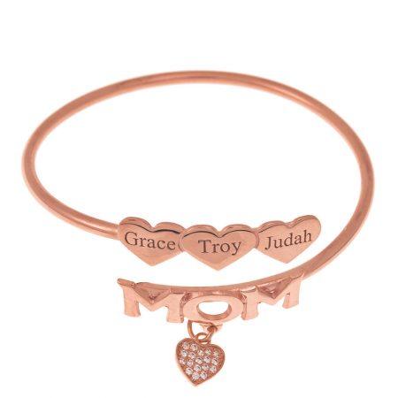 Mum Flex Bracelet with Hearts