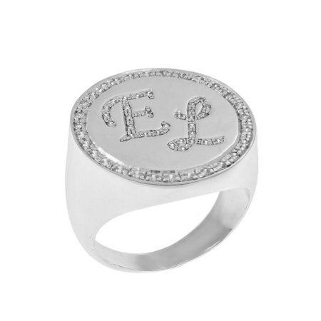 Personalised Two Initials Signet Ring
