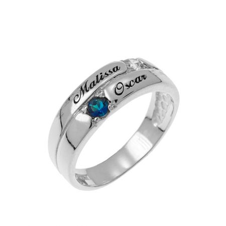 2 Stones Mother Ring