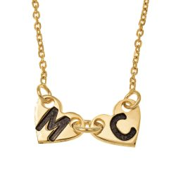 Attached Forever Hearts Necklace gold
