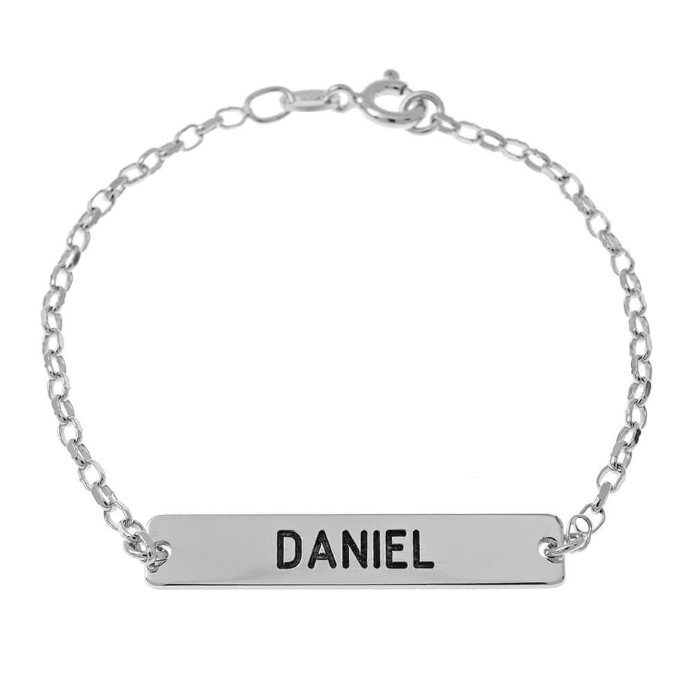Bar Name Bracelet silver