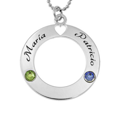 Circle of Love Necklace with Birthstones