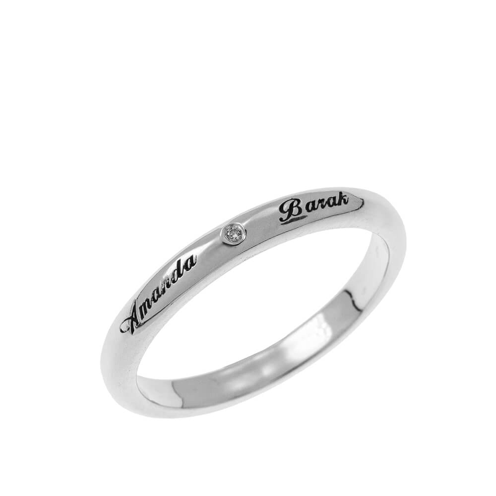 Classic Promise Ring with Engraving silver