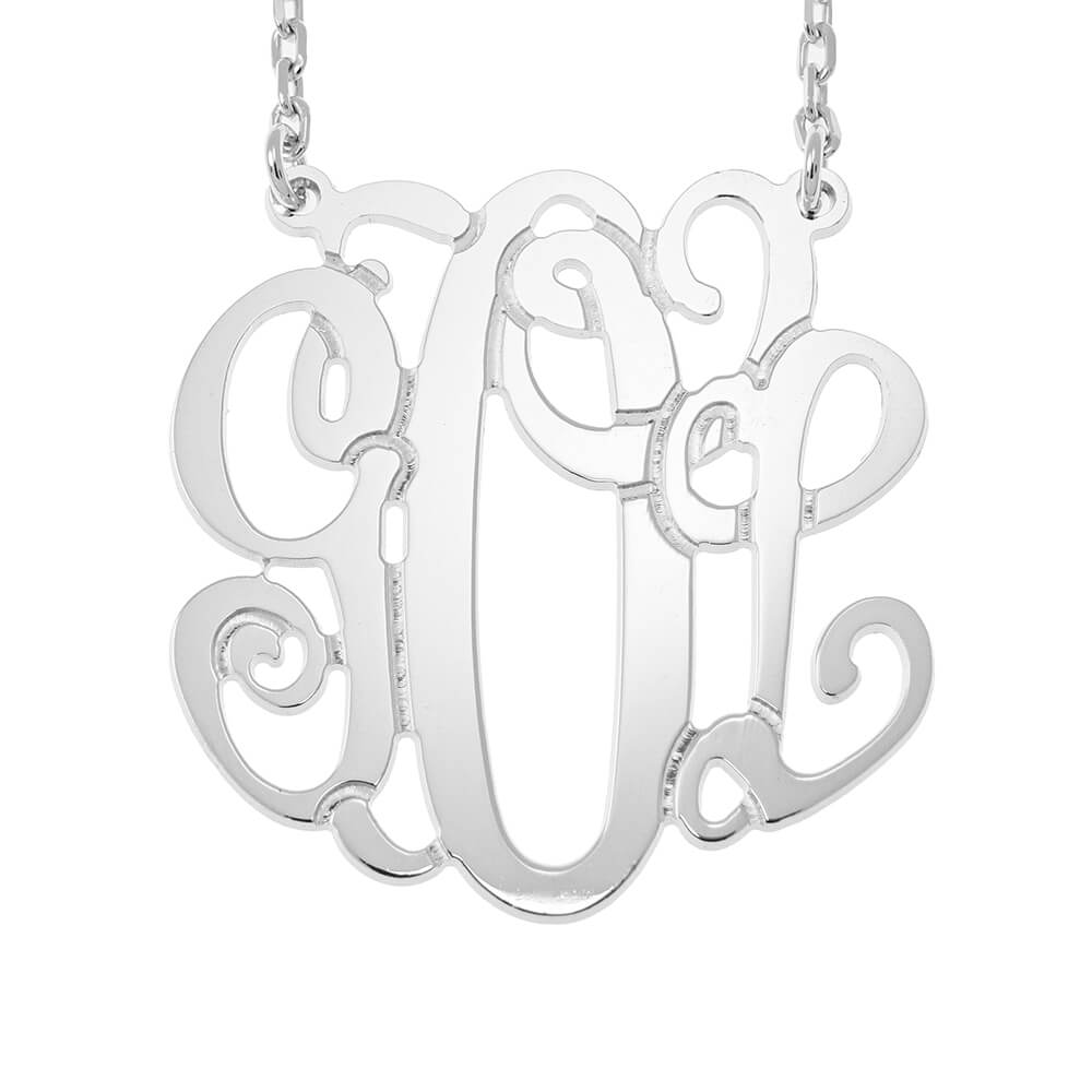 Monogram Necklace silver