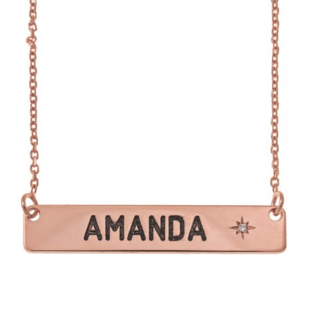 Personalised Bar Necklace with Birthstone