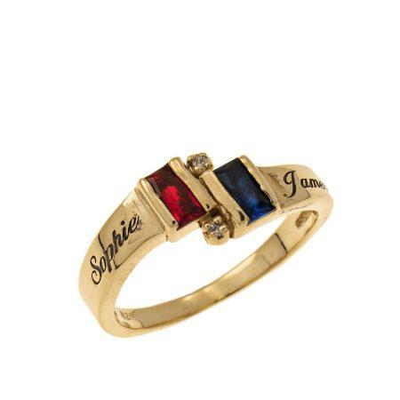 Personalised Birthstone Promise Ring