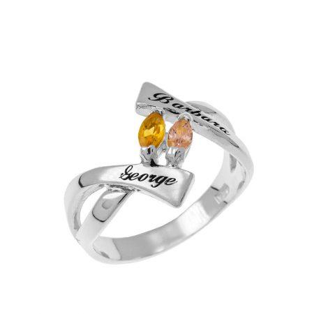 Personalised Birthstones Ring