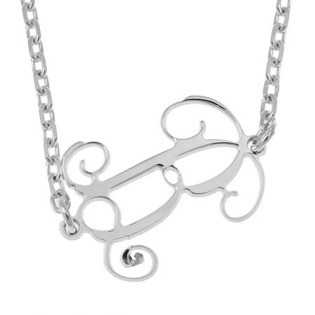 Sideways Initial Monogram Necklace