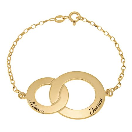 Interlocking Circles Bracelet with Names