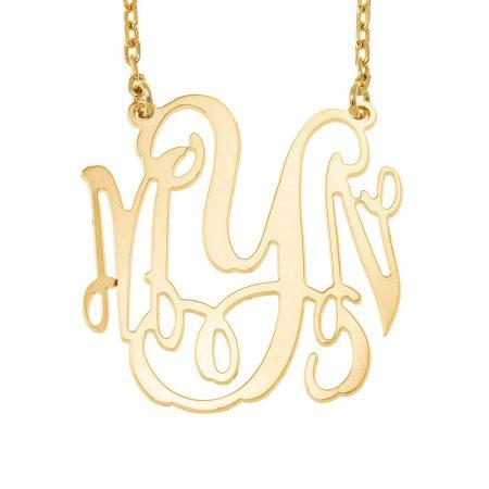 Large Four Initials Monogram Necklace