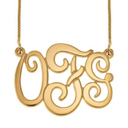 Monogram Three Initials Necklace