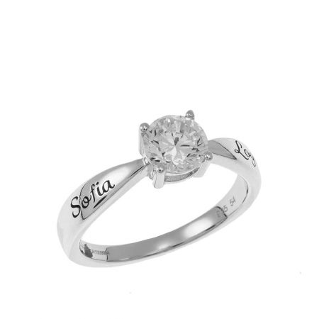 Personalised Solitaire Ring
