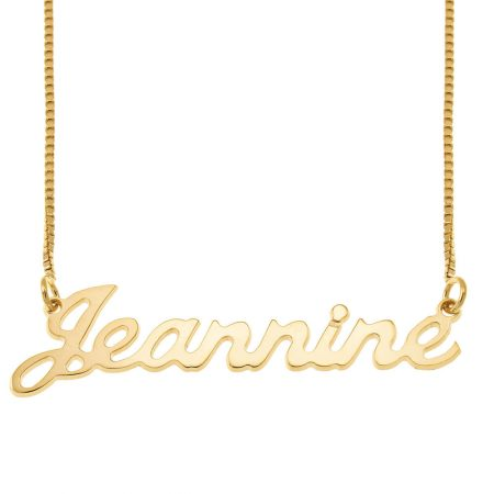 Small Justin Style Name Necklace with Box Chain