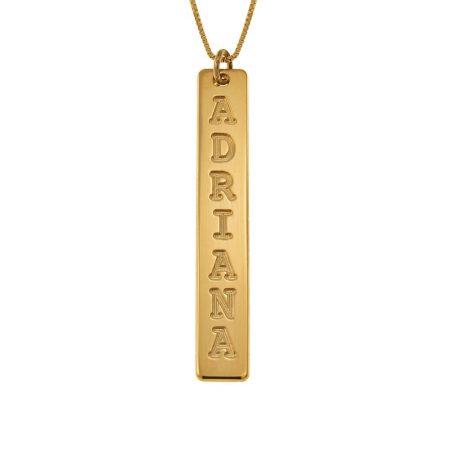 Vertical Bar Name Necklace