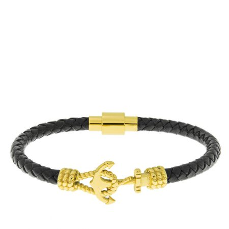 Anchor Leather Bracelet for Men