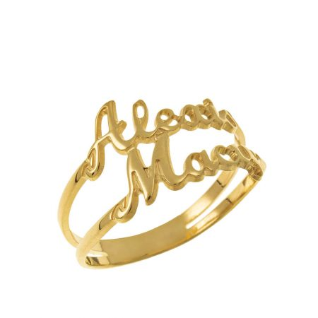 Cut Out 2 Names Ring
