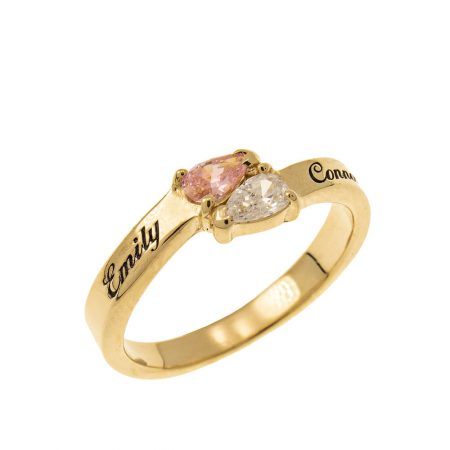Mothers' Ring with Two Birthstones