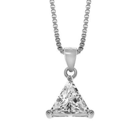 Triangle Zircon Necklace