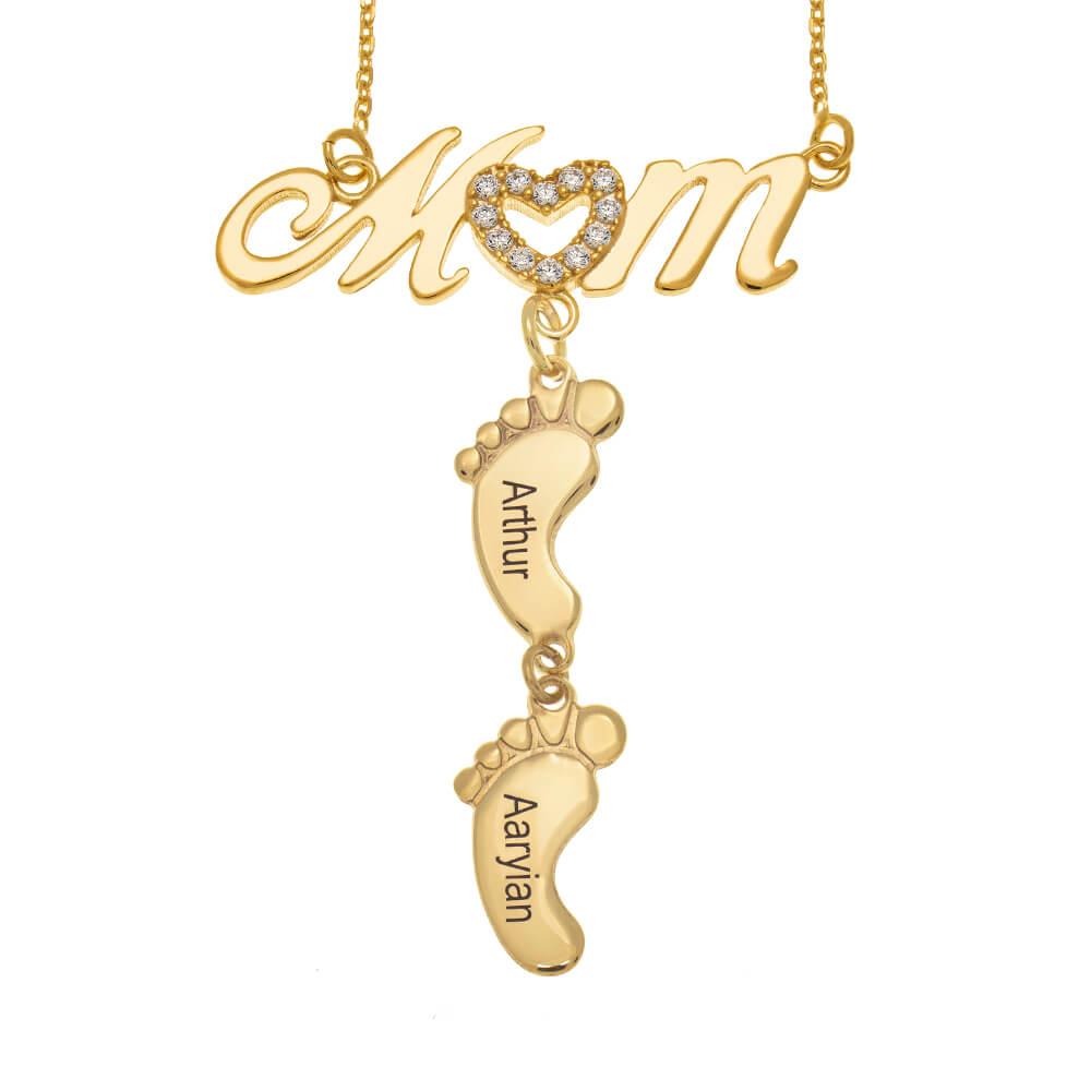 Swarovski-Inlay-Mum-Necklace-With-Baby-Feet-gold