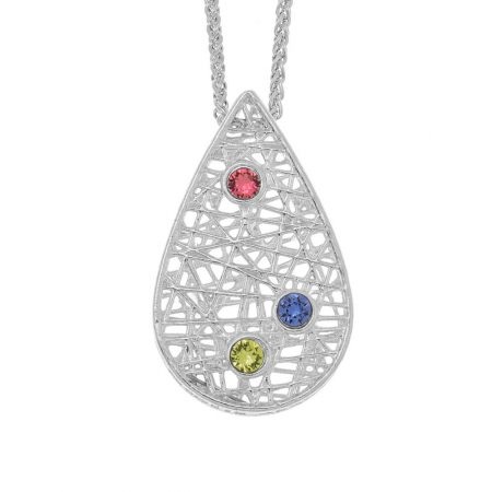 Threads Of Life Drop Birthstone Necklace