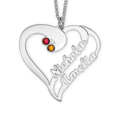 Cut Out Heart Necklace For Couples