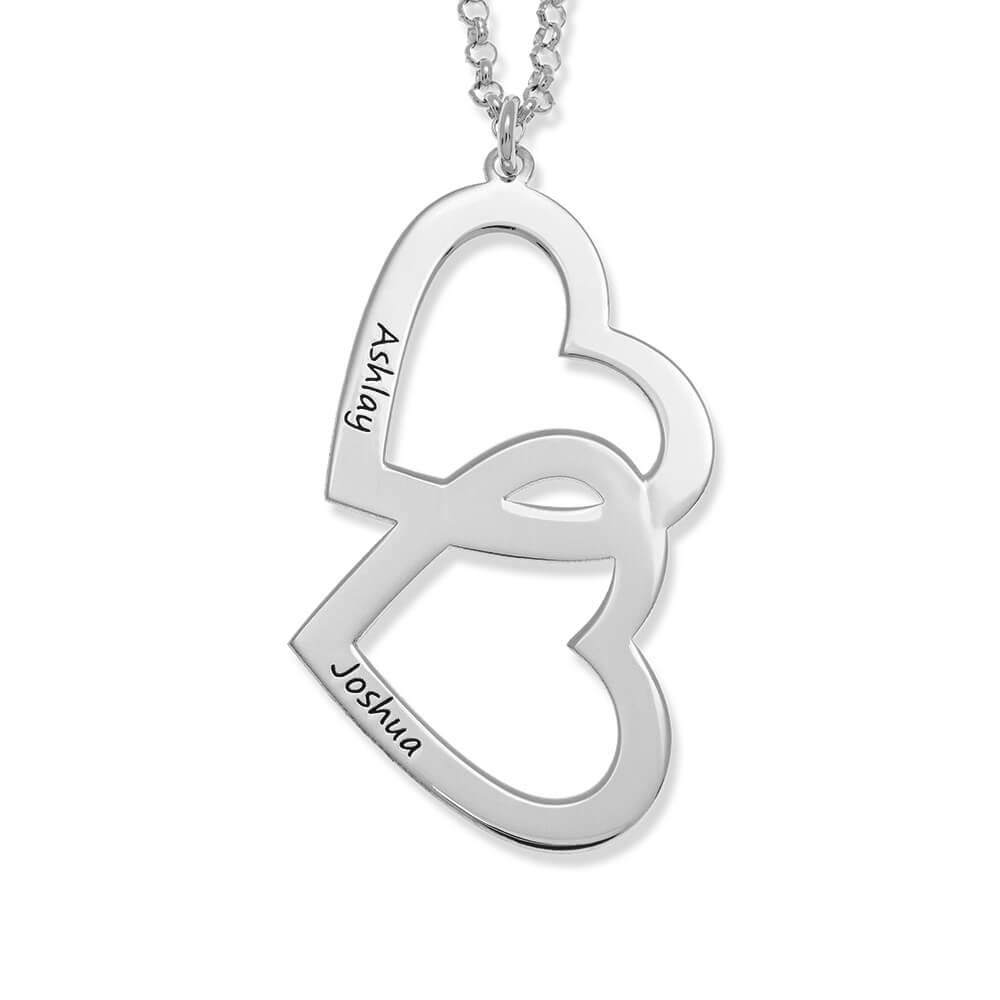 Heart in Heart Necklace silver