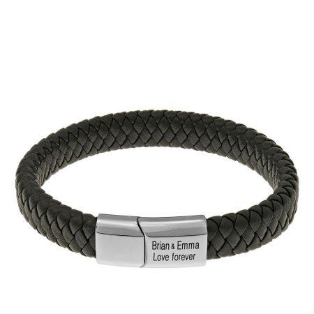 Classic Men's Leather Bracelet – Stainless Steel